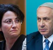 MK Haneen Zoabi and PM Benjamin Netanyahu