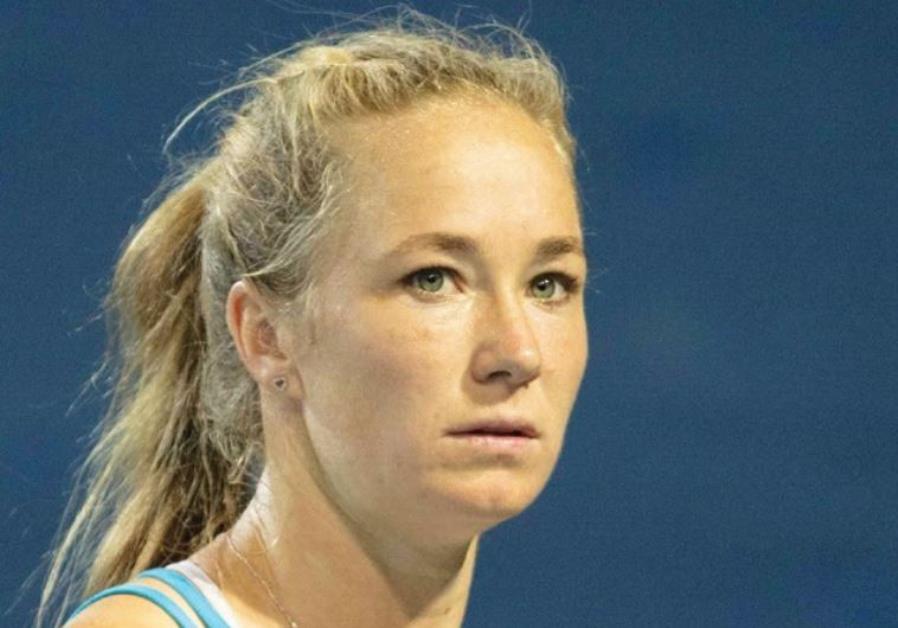 Israel's No. 1 women's tennis player, Julia Glushko