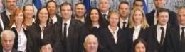 New judges take a group photograph