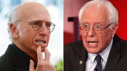 Larry David Bernie Sanders