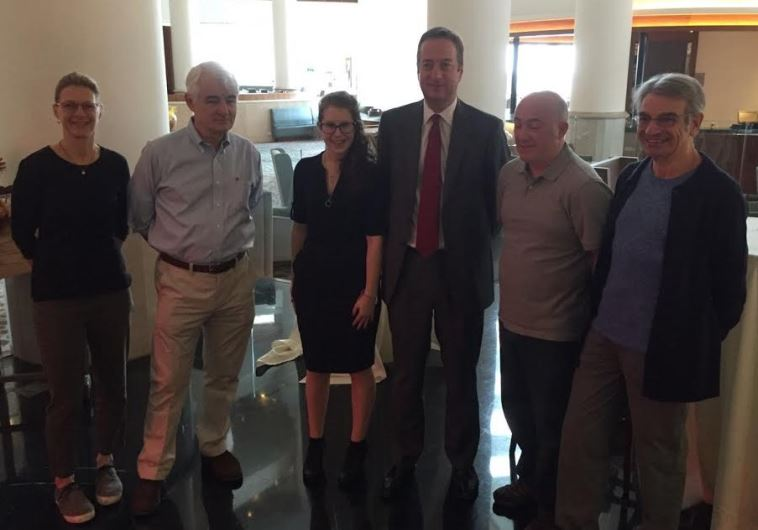 Winners of the WIZO UK Commitment award with Ambassador David Quarrey in Tel Aviv