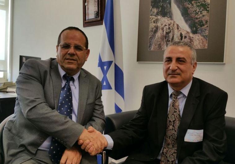 Deputy Regional Cooperation Minister Ayoub Kara with Syrian opposition leader Dr. Kamal Al-Labwani
