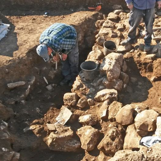 Archaeological excavations conducted at the northern Jerusalem site.COURTESY OF ISRAEL ANTIQUITIES AUTHORITY