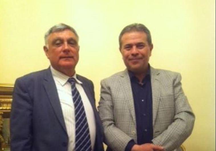MP Tawfik Okasha hosts Israeli ambassador Haim Koren