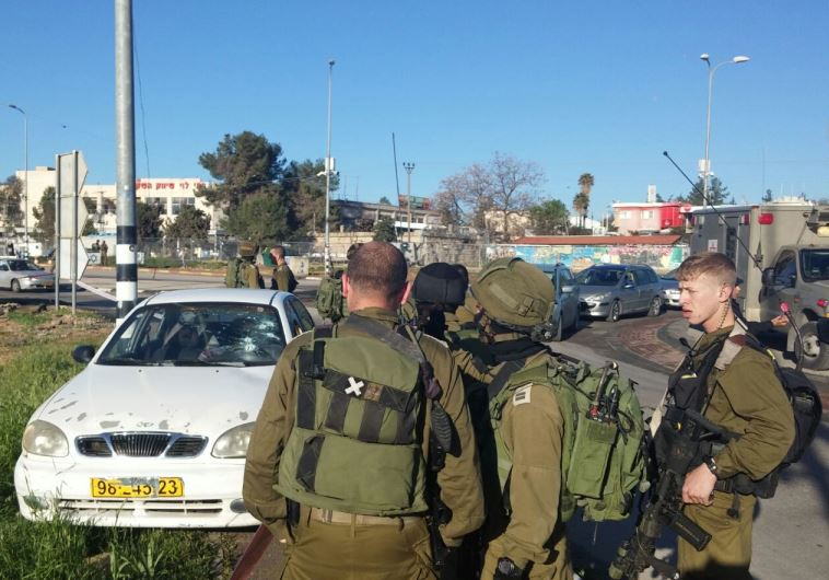 Attempted car ramming un Gush Etzion, February 4.