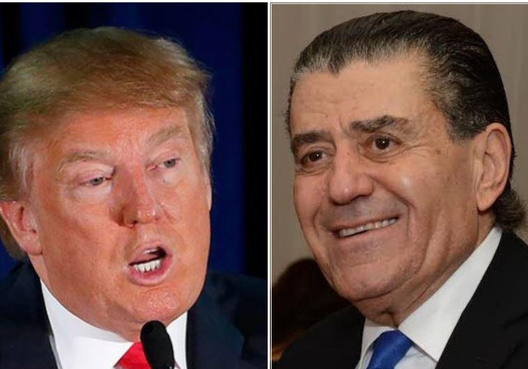 Donald Trump (L) and Haim Saban