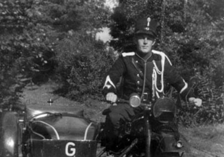 Henk Drogt in his police uniform