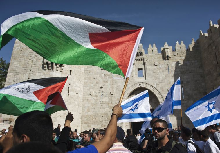 israeli palestinian flags