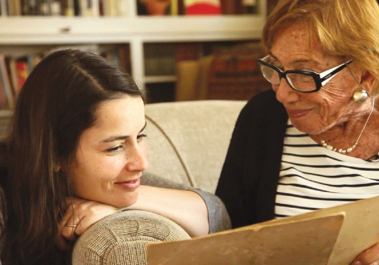 ISRAELI DIRECTOR Mor Kaplansky seen here with her grandmother Naomi Kaplansky