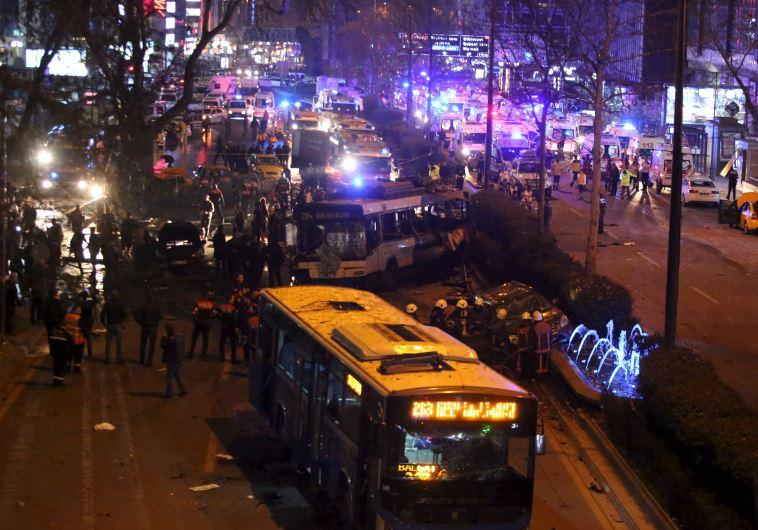 Ankara, Turkey explosion kills over two dozen March 13, 2016