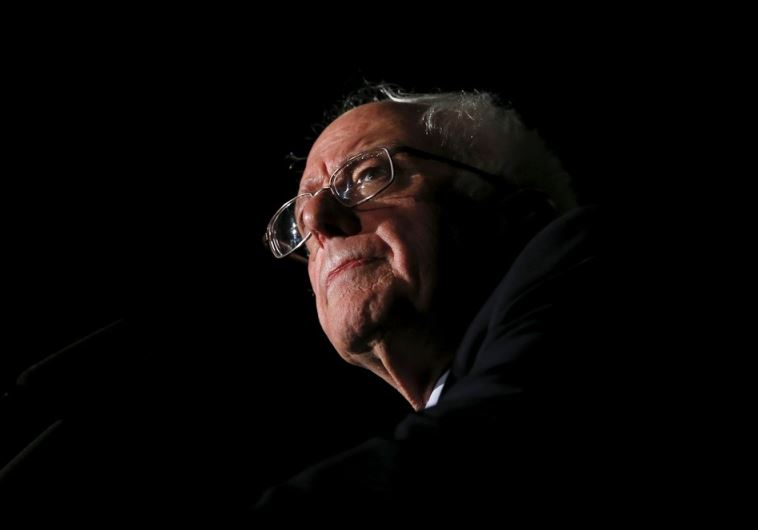 Democratic US presidential candidate Bernie Sanders speaks to supporters during a campaign rally