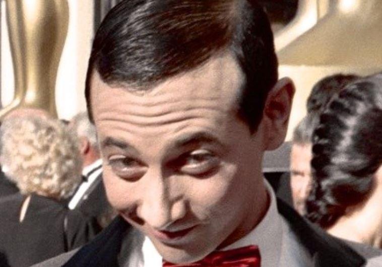 "Actor Paul Reubens as ""Pee-wee Herman"" at the 60th Academy Awards, 1988"