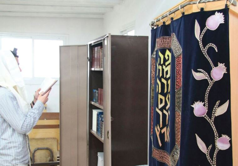 THE SYNAGOGUE in the outpost of Givat Sorek