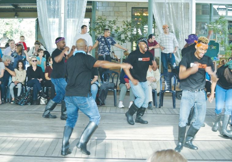 DANCERS PERFORM before a packed audience at Jerusalem's First Station yesterday.