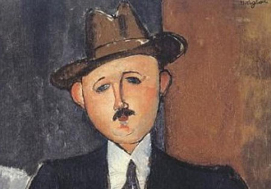 Amedeo Modigliani, Seated Man with a Cane (1918).