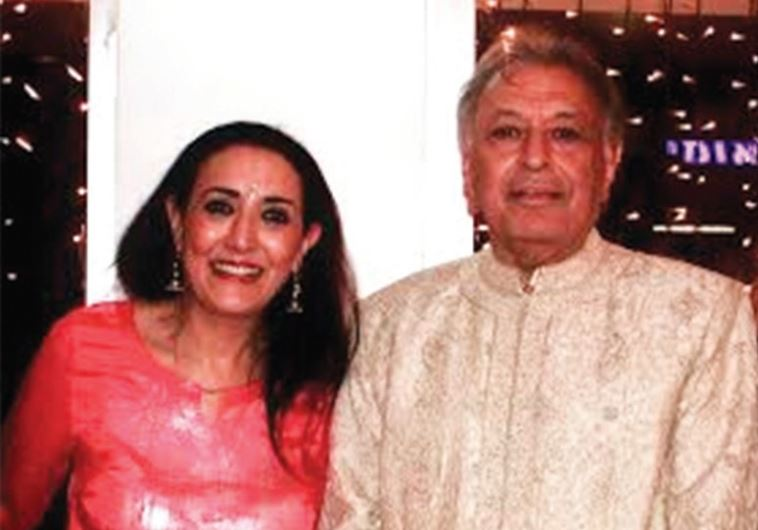 REENA PUSHKARNA with Zubin Mehta at his 80th birthday party, which she hosted with her husband, Vino