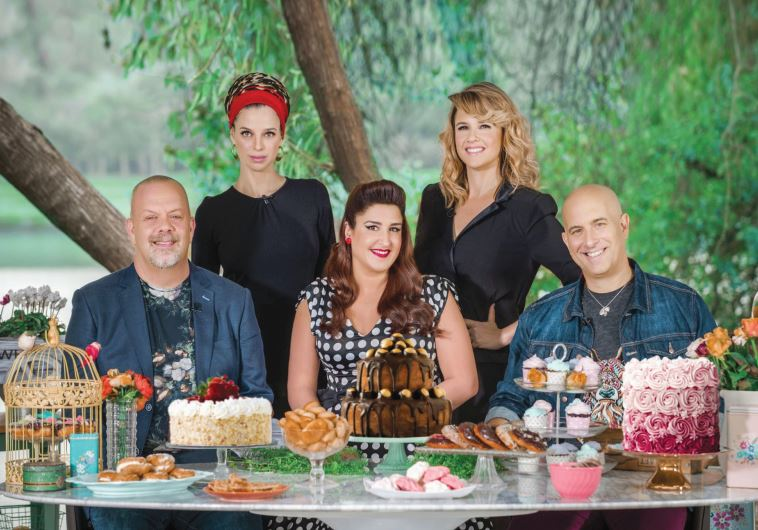 'BAKE-OFF ISRAEL' judges and hosts (from left): Ran Shmueli, Aya Kremerman, Carine Goren, Paula Rose