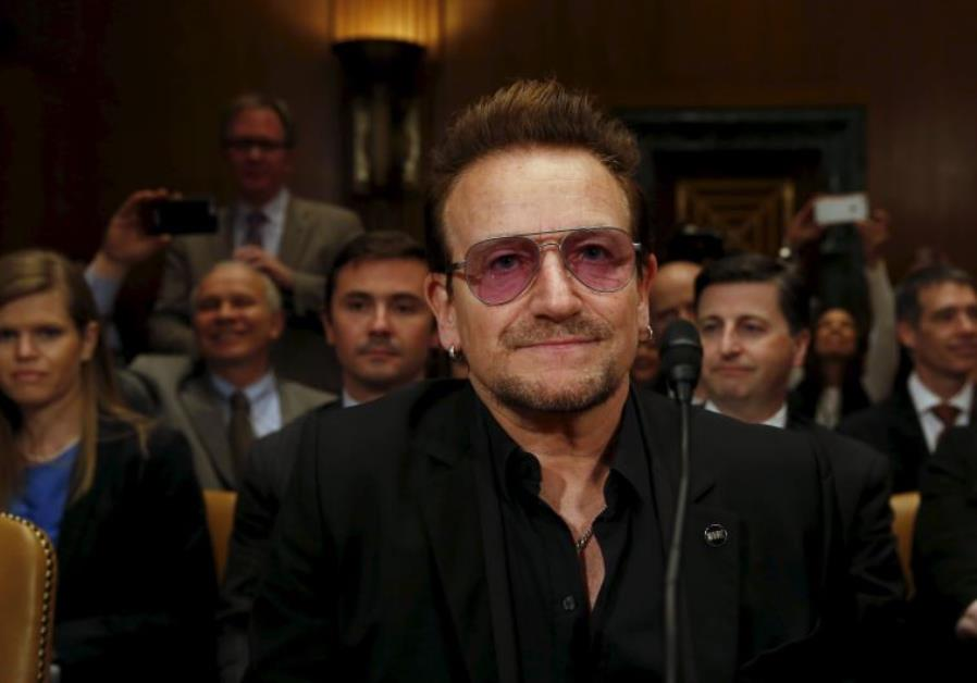 U2 lead singer Bono attends a Senate Appropriations State, Foreign Operations and Related Programs S