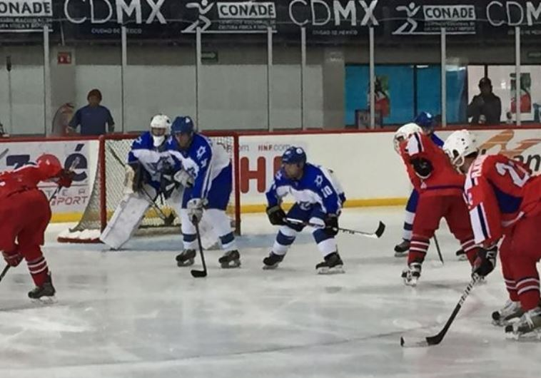 Israel's National Hockey team playing at the group B meeting in IIHF World Championship Division II