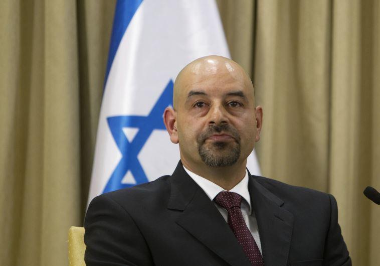 Jordan's new ambassador to Israel Walid Khalid Abdullah Obeidat after presenting his credentials in