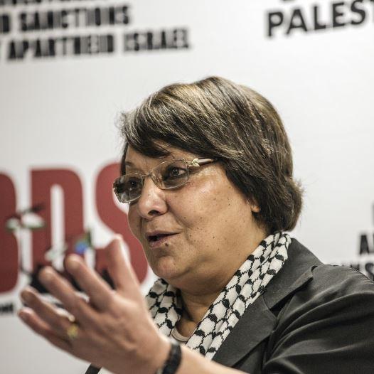 PFPL plane hijacker Leila Khaled in South Africa (credit: AFP PHOTO/GIANLUIGI GUERCIA)