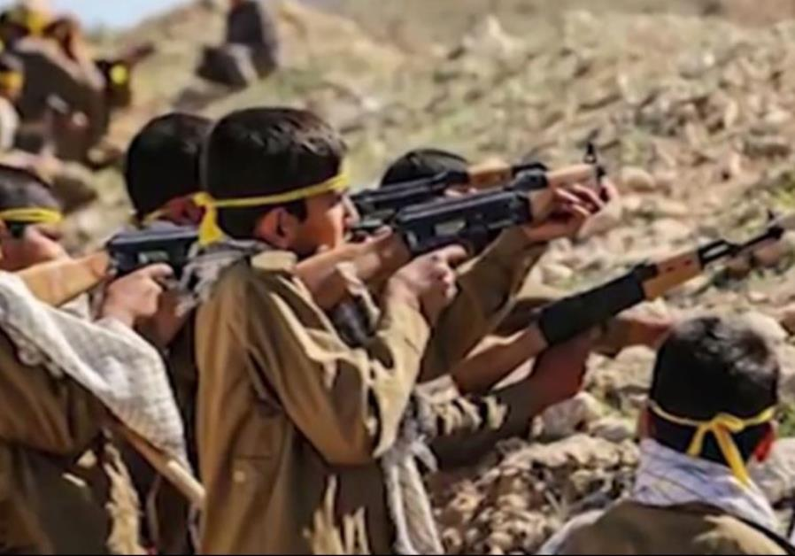 Iran regime produces video clip urging children to enlist in the Syria war