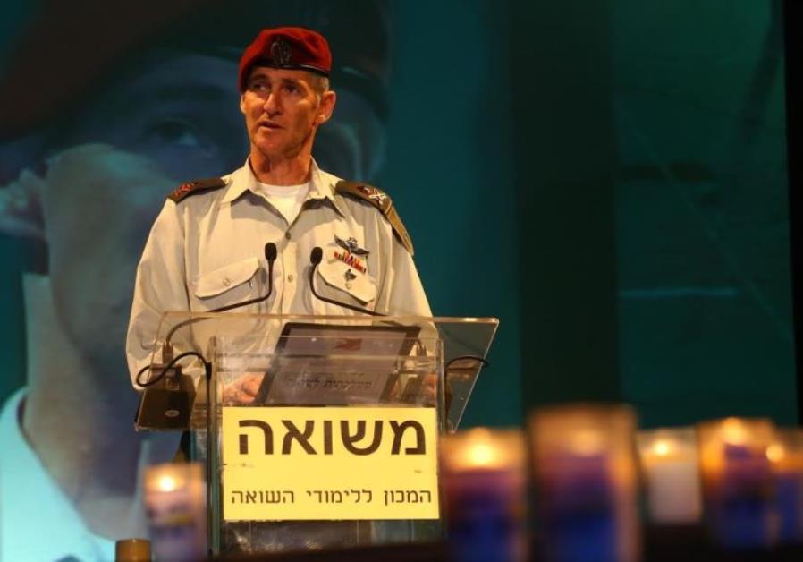 IDF Deputy Chief of Staff Maj.-Gen. Yair Golan delivers remarks at Kibbutz Tel Yitzhak