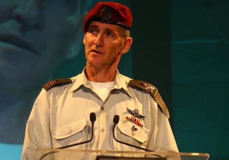 IDF Maj.-Gen. Yair Golan gives a speech at Kibbutz Tel Yitzhak in central Israel