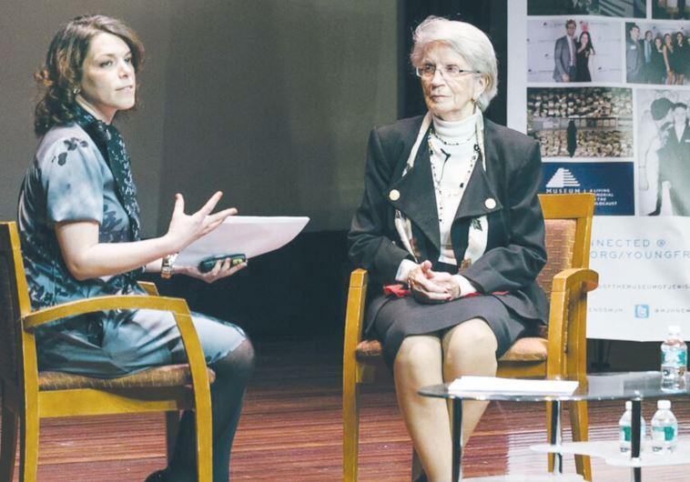Young Friends board member Miriam Leichtling interviews Stefania Hecht