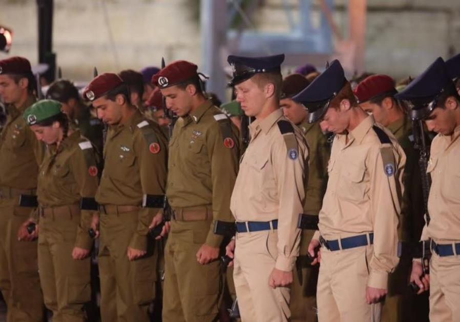 Remembrance Day ceremony at the Western Wall.