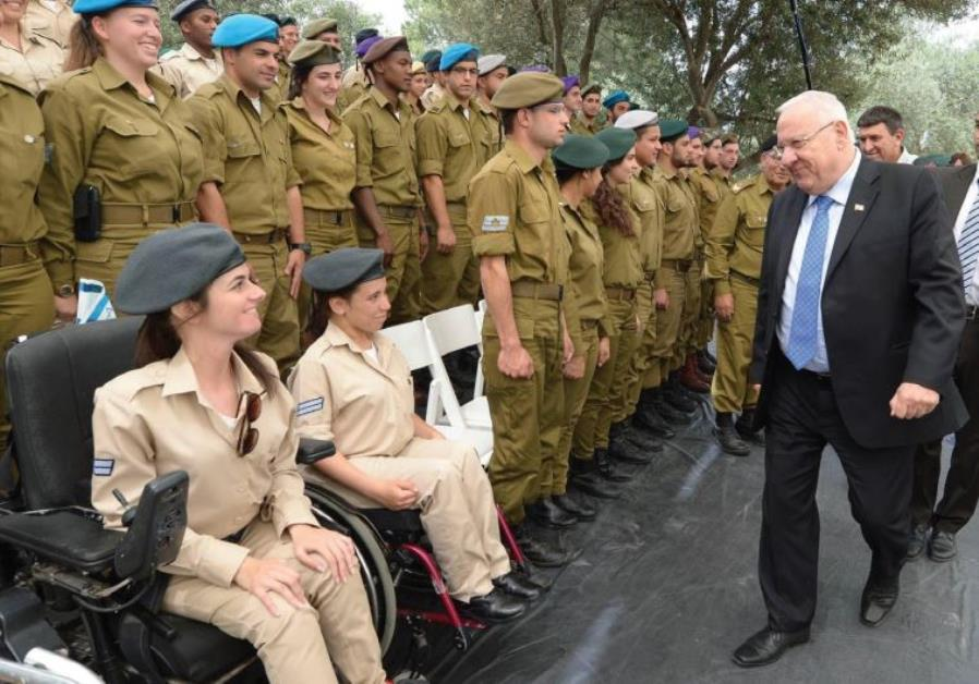 PRESIDENT REUVEN RIVLIN pays a surprise visit to some of the 120 outstanding soldiers who will be ho