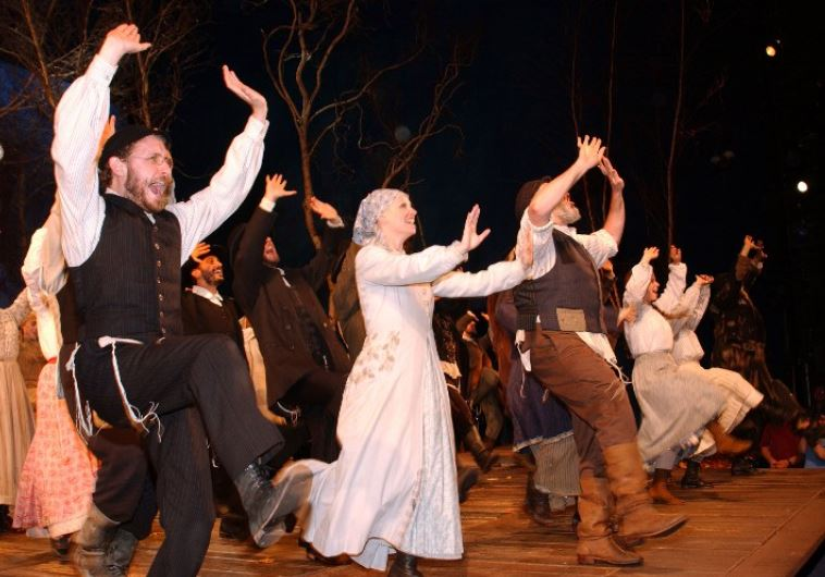The cast of 'Fiddler on the Roof' takes their curtain call at Minskoff Theater in New York