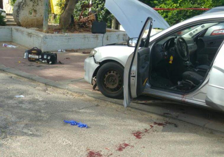 Scene of car bombing in Or Yehuda