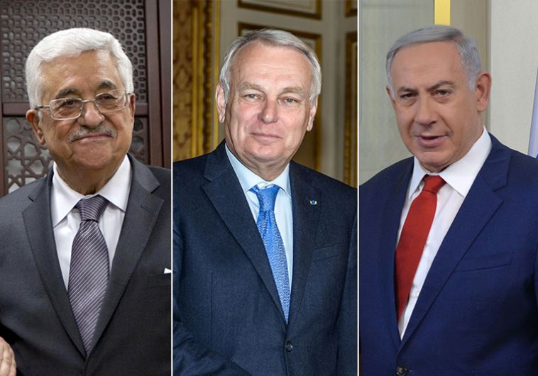 Netanyahu, Ayrault and Abbas