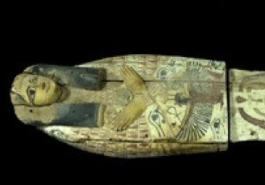 THIS COVER of an ancient sarcophagus was smuggled into Israel in 2012.