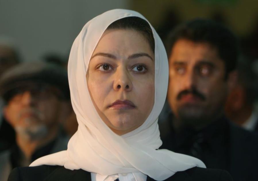 Raghad Saddam Hussein, daughter of the former Iraqi president Saddam Hussein