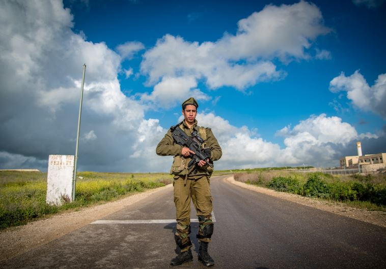 An IDF soldier from the Golani Brigade trains in northern Israel