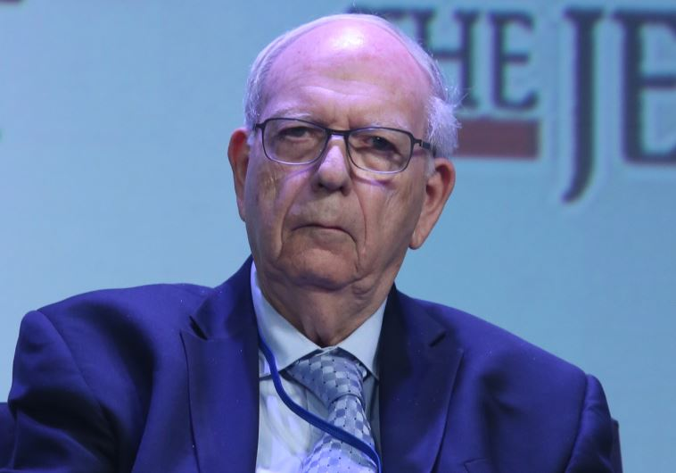 Efraim Halevy at JPost Annual Conference (Marc Israel Sellem)