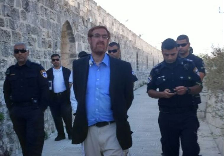 Yehuda Glick at Temple Mount.