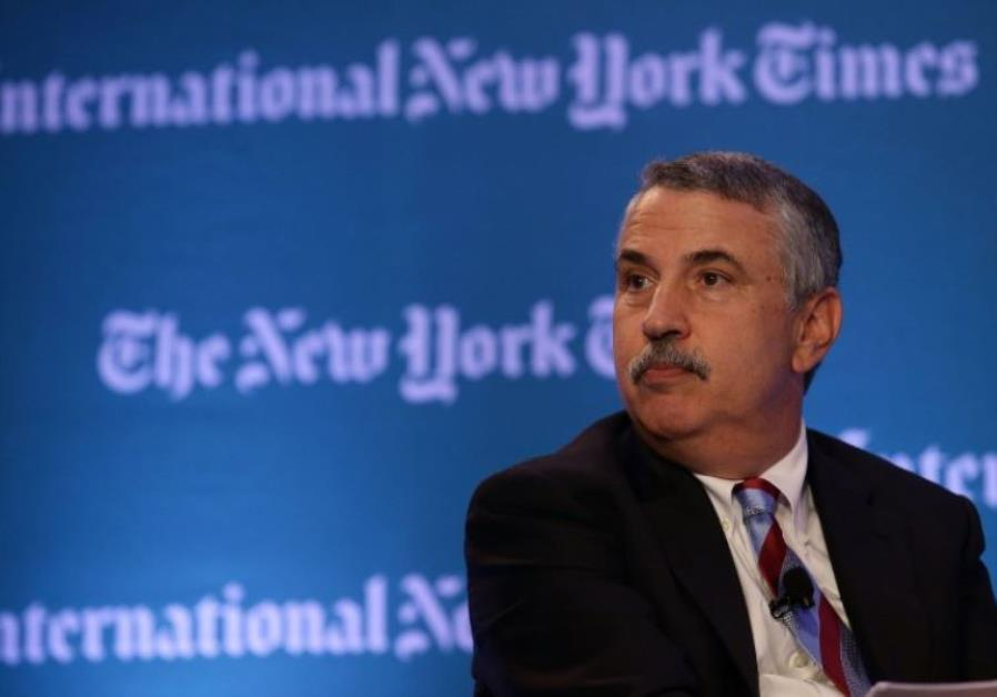 New York Times op-ed columnist Thomas Friedman