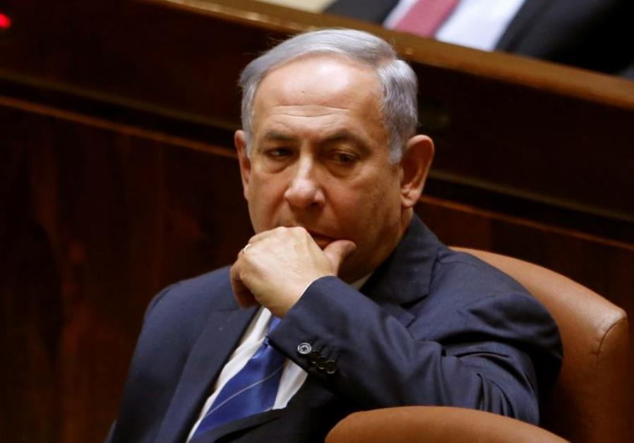 Prime Minister Benjamin Netanyahu at the Knesset