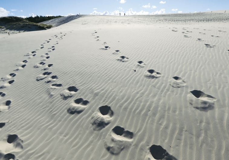 Footsteps on sand