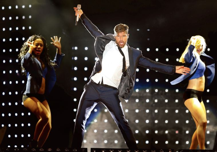 SINGER RICKY MARTIN performs during his One World tour 2016 in Montevideo