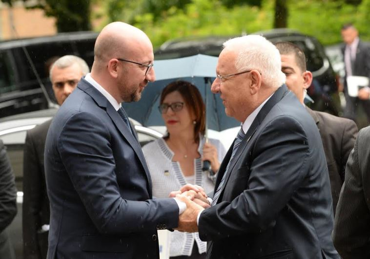 Belgian Prime Minister pledges with Israeli Presiden Reuven Rivlin to continue to fight against anti