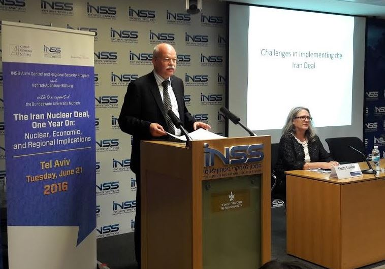 German Ambassador to Israel Dr. Clemens Von Goetze at INSS Iran Conference