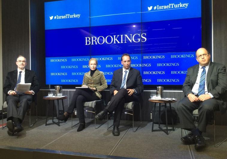From left to right: Kemal Kirisci-Brookings Institution, Sylvia Tiryaki - GPoT Center, Nimrod Goren