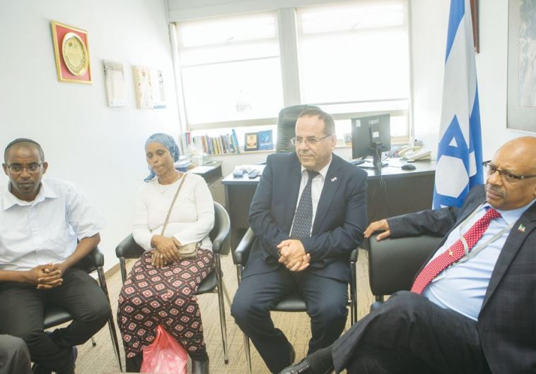 Meeting with the family of Avraham Mengistu at the Knesset on Monday.