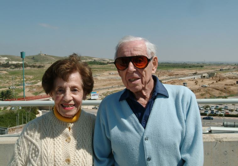 The late Dr. Howard and Lottie Marcus in 2005 during a visit to name the Marcus Family Campus