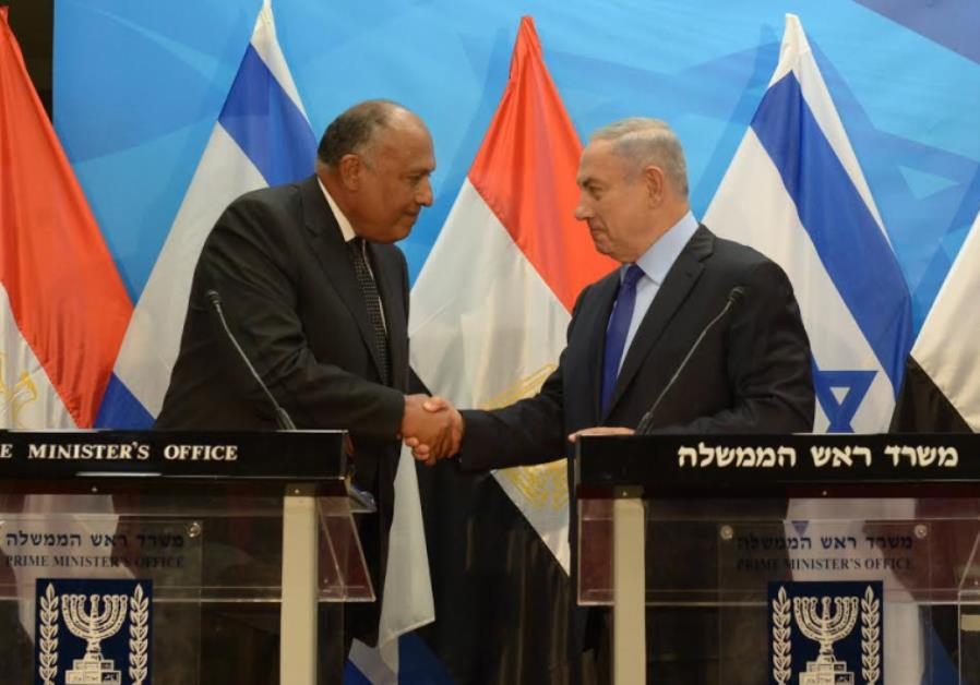 Prime Minister Netanyahu meets with Egypt's FM in Israel