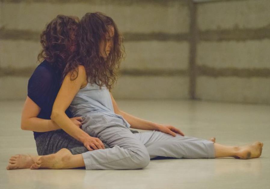 AYALA FRENKEL (left) and Noa Shavit perform in the new duet '2 Her.'